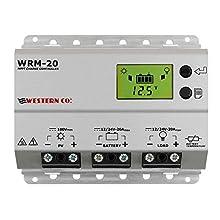 WRM20 Régulateur de Charge 20 A MPPT, Gris Argent Silver Western CO.