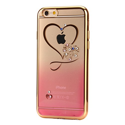 SainCat Coque Housse pour Apple iPhone 7 Plus,Transparent Coque Silicone Etui Housse,iPhone 7 Plus Silicone Case Soft Gel Cover Anti-Scratch Transparent Case TPU Cover,Fonction Support Protection Comp amour rouge