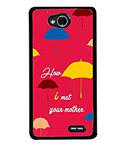 FIOBS red theme raining umberella series hollywood how I met your mother Designer Back Case Cover for LG L70