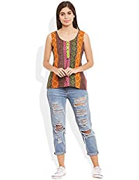Very Me Women's Designer Multicolored Pure Cotton Printed Short Top