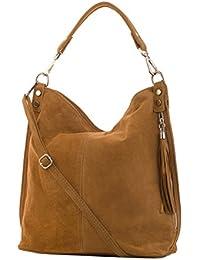 Shopper bolso, bolso de hombro de mujer, Mod. 2108 ante, Italy