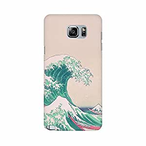 Mobicture Abstract Waves Designer Printed Hard Case Cover - [Hard Poly Carbonate] [Slim-fit] [Shock-Proof] Back Cover for Samsung Note 5