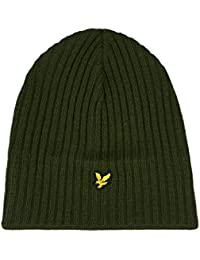 0734d041317 Lyle and Scott Lyle and Scott Knitted Rib Beanie Woodland Green ONE Size