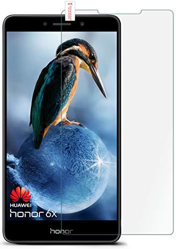 moex 9H Panzerfolie für Huawei Honor 6X | Panzerglas Bildschirm Glasfolie [Tempered Glass] Screen Protector Glas Bildschirmschutz-Folie für Honor 6X / Huawei GR5 (2017) / Mate 9 Lite Schutzfolie