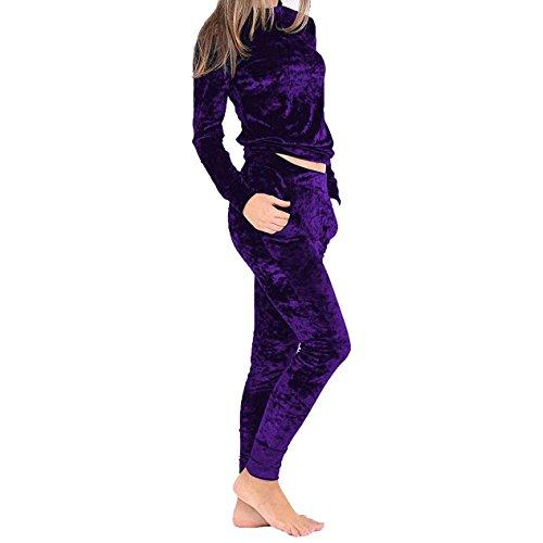 FashionCity -  Tuta da ginnastica  - Donna Purple
