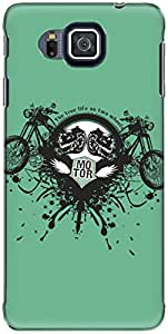 The Racoon Lean printed designer hard back mobile phone case cover for Samsung Galaxy Alpha. (True Life)