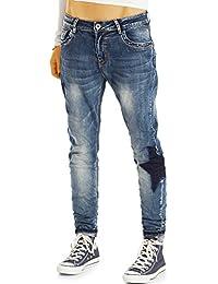 Bestyledberlin Damen Karotten-Jeans, Baggy-Jeans, Low Rise Jeans j43k