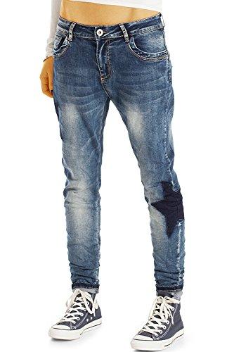 Bestyledberlin Damen Karotten-Jeans, Baggy-Jeans, Low Rise Jeans j43k 38/M