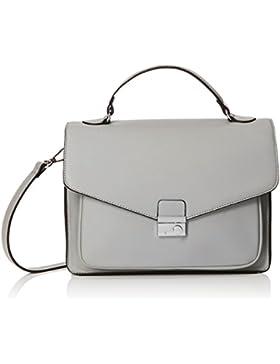 New Look Damen Becks Structures Tornistertasche, Off-White (Grey)