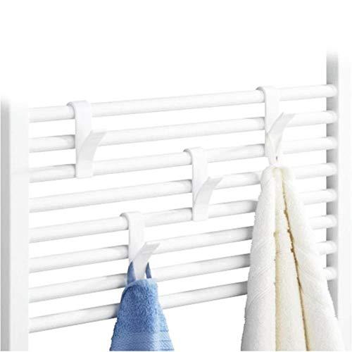 NR 10pcs White Towel Mop Coat HooksStorage Hanging for Bath Heated Radiator Clothes Hanger Organizer Decoration Color Send by Random