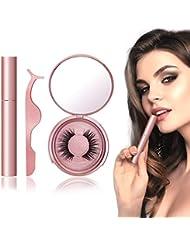 Faux Cils Magnétique, Eyeliner Magnétique Kit, 5 Aimants Faux-cils Sans Colle
