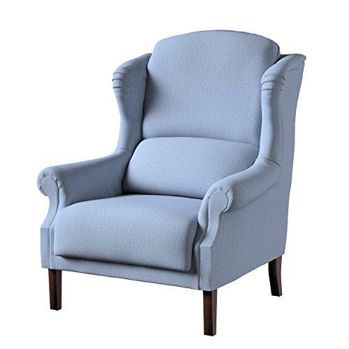 Dekoria Sessel Unique 85 × 107 cm Silber- blau