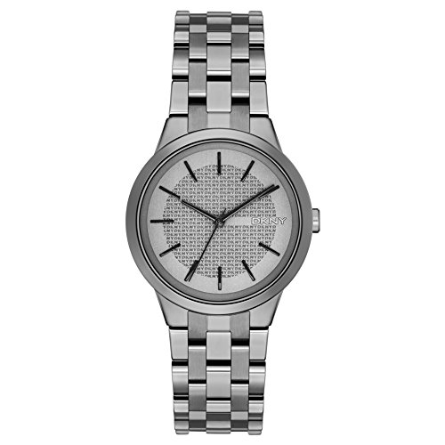 DKNY (DNKY5) Women's Quartz Watch with Grey Dial Analogue Display and Grey Stainless Steel Bracelet NY2384