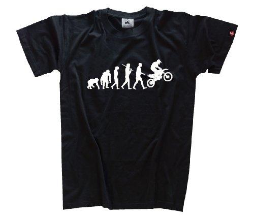 Motocross T-shirts (Shirtzshop T-shirt Standard Edition Motocrosser Motocross Evolution, Schwarz, XL, 4055002322250)