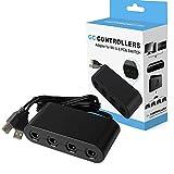 Adaptateur Manette Gamecube pour Switch Convertisseur 4 Ports Controller Adapter pour Wii U / Nintendo Switch / PC
