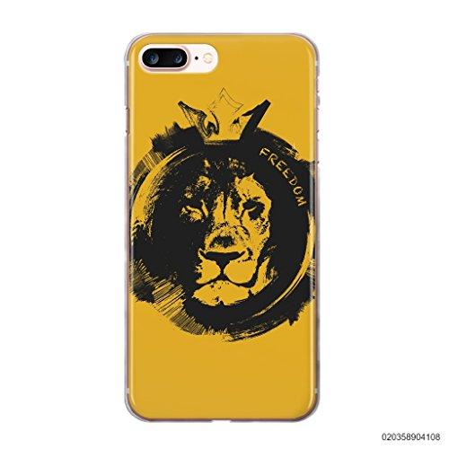 blitzversand Handyhülle Know Pain kompatibel für iPhone 7Plus / 8Plus gelber Löwe Lion Schutz Hülle Case Bumper transparent rund um Schutz Cartoon M11