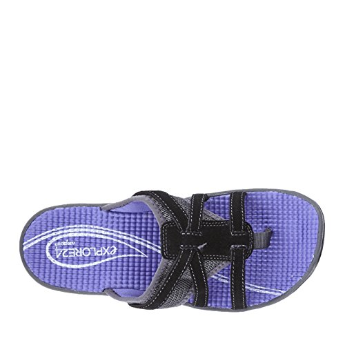 Easy Spirit Yiska Daim Sandale de Sport Blk-Dgry