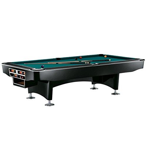 Pool Billardtisch Modell Gladiator Black 9 ft, Tuchfarbe:grün