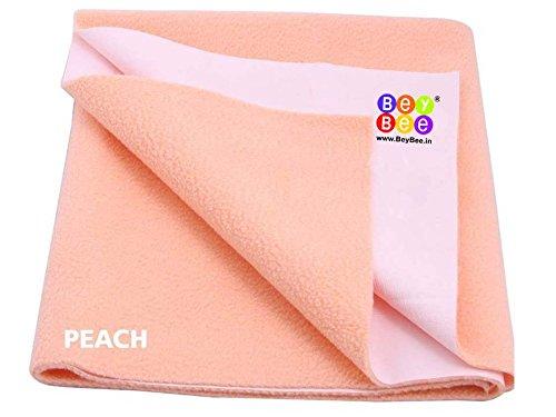 Bey Bee - Quick Dry Baby Bed Protector Waterproof Sheet (Medium ( 100cm X 70cm), Peach)