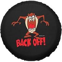 "Sanlitock 16 pulgadas (76-79cm) ""Back Off!"" Rueda de repuesto cubierta de neumáticos negro personaje de dibujos animados impermeable"