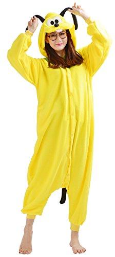 YARBAR Onesies animali Cosplay pigiama unisex adulto costume di Halloween tuta gialla Kigurumi Dog