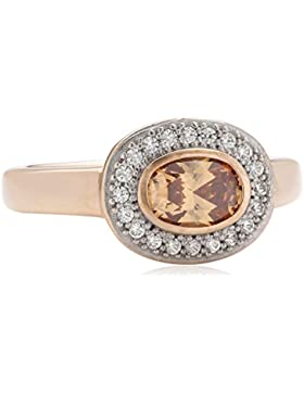 Diamonfire Damen-Ring 925 Sterling Silber Zirkonia Fancy Colours Linie orange  61/1622/1/133