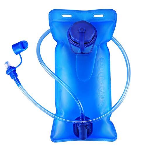 Dann Spülen (Trinkblase Wasserblase 2 Liter Trinksystem Sport Hydration Wasserbehälter für Trinkrucksack, BPA-Free, Einfach Reinigung, ideal für Radfahren, Wandern, Laufen, Camping)