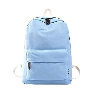 mochilas escolares juveniles niña Switchali Lona bolsas escolares moda Pijo Mochila escolares niño mochilas mujer casual Mochila bolsas deporte viaje – baratas (Gris)