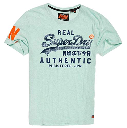 95f7960e4 SUPERDRY -66% ❤ SUPERDRY VINTAGE AUTHENTIC PASTEL LITE T-SHIRT MINT MARL  SMALL HOMME