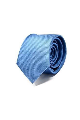 Oxford Collection Corbata Azul Claro, 100% Seda (Caja de Lujo)