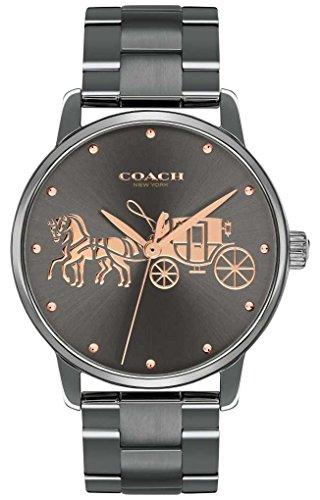 Coach Womens Grand Black IP vergoldet Gehäuse & Armband Roségold-Print - Coach Uhren Frauen Gold