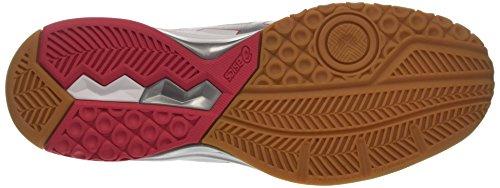 Asics Gel-rocket 8, Chaussures De Gym Pour Femme Blanc (blanc / Rouge Rouge / Argent 0119)