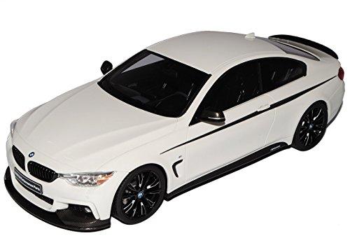 Preisvergleich Produktbild BMW 4er M435i Sport Coupe M Paket Performance Weiss Ab 2013 Nr 710 1/18 GT Spirit Modell Auto mit individiuellem Wunschkennzeichen