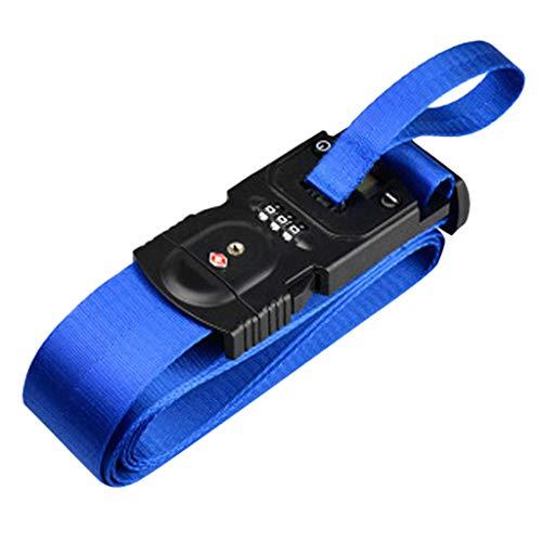 QHJ Koffergurt,Heavy Duty Non-Slip Verstellbare Reise Zubehör Koffer GepäckGürtel Tasche Bungee (Blau) Bungee-slip