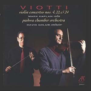 Violin Concertos Nos. 4, 22 & 24 (Kaplan)