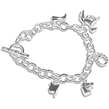 enez – Pulsera de cadena de plata de ley 925 Gallay joyas 20 cm A074