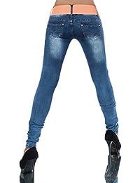 N159 Damen Jeans Hose Hüfthose Damenjeans Hüftjeans Bootcut