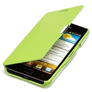 youcase - Samsung Galaxy S2 i9100 Slim Flip Case Etui en cuir coque de protection Housse vert