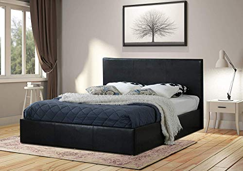 Home Treats Black Ottoman Bed Fr...