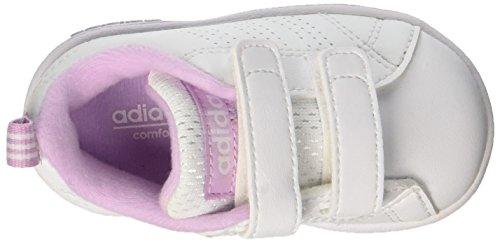 adidas Vs Advantage Clean, Sneakers Basses Mixte Enfant Blanc (Ftwwht/ftwwht/lgtorc)