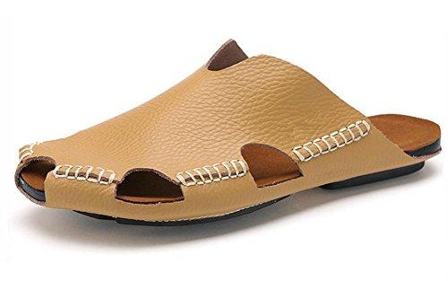 Nuovi uomini di estate in pelle traspirante sandali dei sandali di modo 2