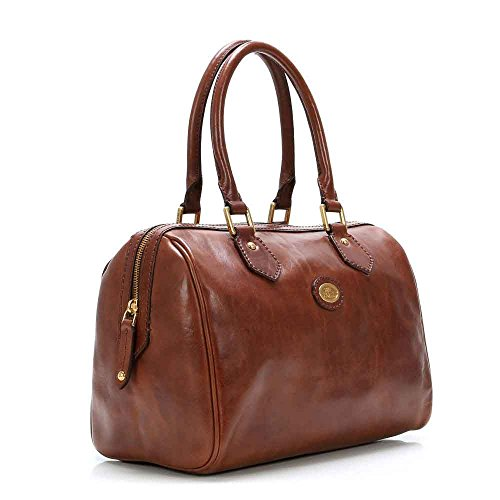 The Bridge Story Donna Barrel Bag Sac à main - porté main cuir 30 cm braun