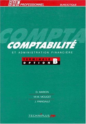 Comptabilité, bac pro, option B