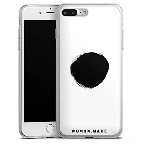 Apple iPhone 8 Slim Case Silikon Hülle Schutzhülle Kreis Schwarz Loch Silikon Slim Case transparent