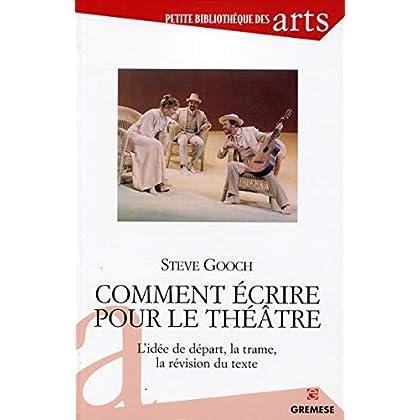 Comment écrire pour le théâtre : L'idée de départ, la trame, la révision du texte.