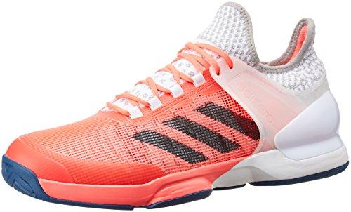 adidas Herren Adizero Ubersonic 2 Tennisschuhe, Rojo (Rojdes / Acetec / Ftwbla), 45 1/3 EU