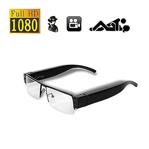 Full HD Cam Spy Camera 1920 * 1080P Mini caméra Surveillance Vidéos cachées Enregistreur audio DV DVR Lunettes de mode @