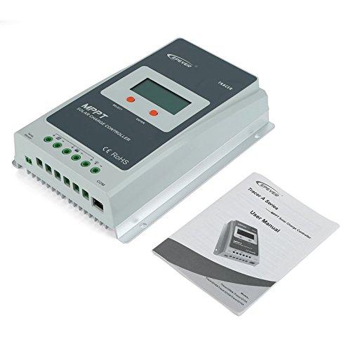 ulable MPPT 30A Solar Laderegler Akku Panel Regler Automatischer Umstellung -