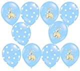 Libetui 10 Luftballons Deko Geburtstag Kinder Kindergeburtstag Party Baby Elefant (Blau)