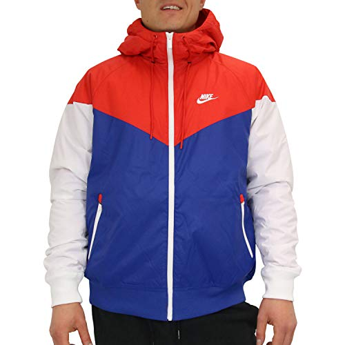 Nike Herren M NSW HE WR JKT HD INSLTD Jacke, University Red/Indigo Force, Gr. XS